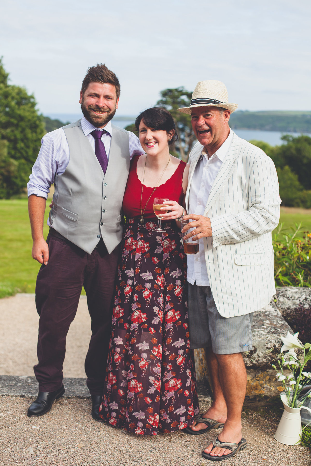 wedding guest Helford wedding photographer