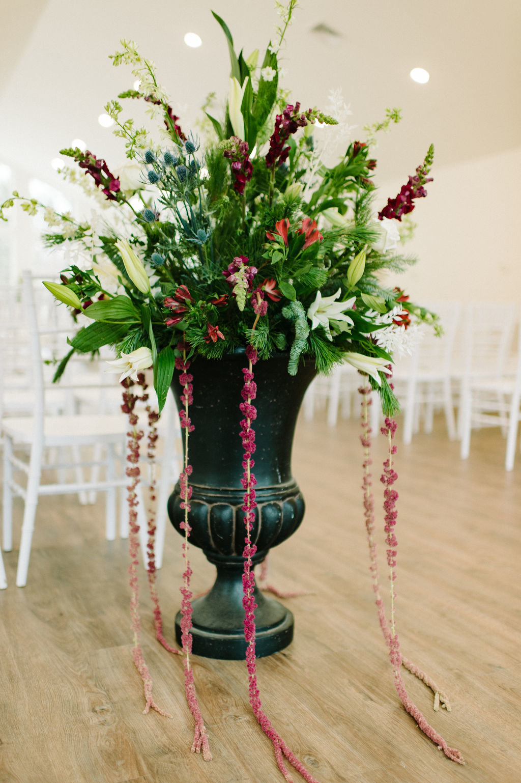 Statement floral piece by All About Flowers in ElDorado Arkansas / Tyler Rosenthal Photography