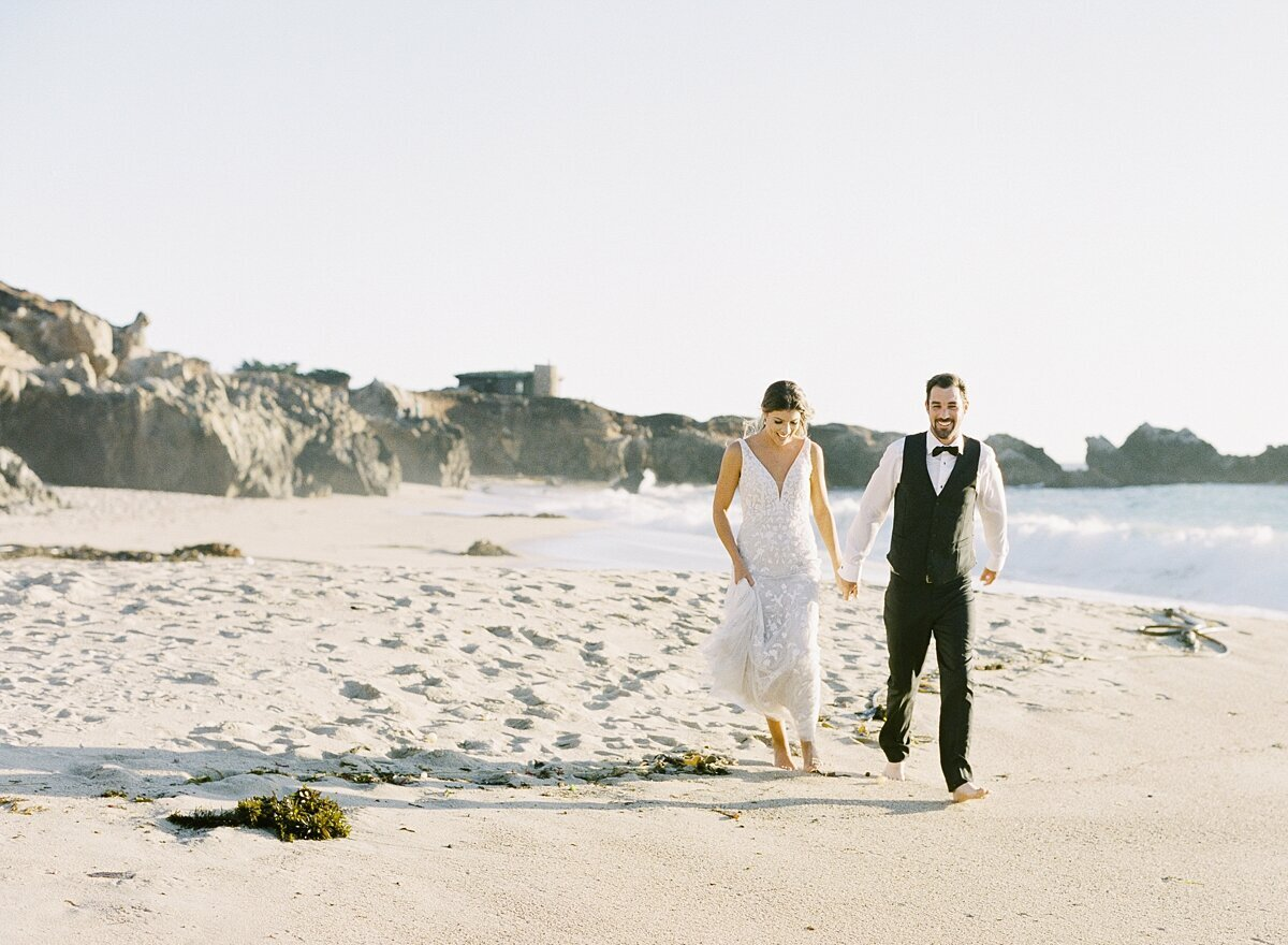 Couple elopes along the big sur coast