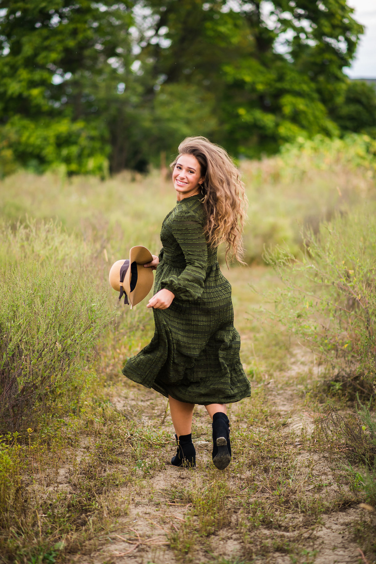 Senior Session Girl in Open Field