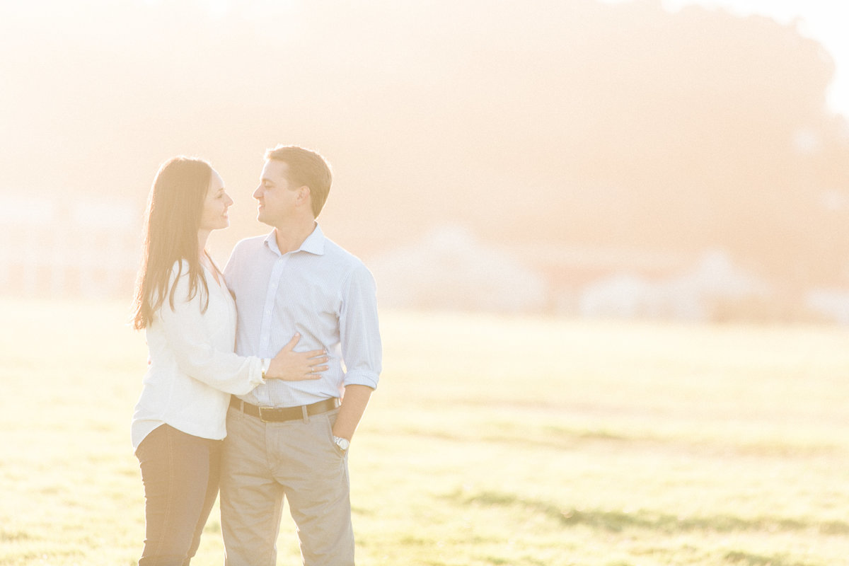 Crissy Field SF Hazy Sunset Engagement Session