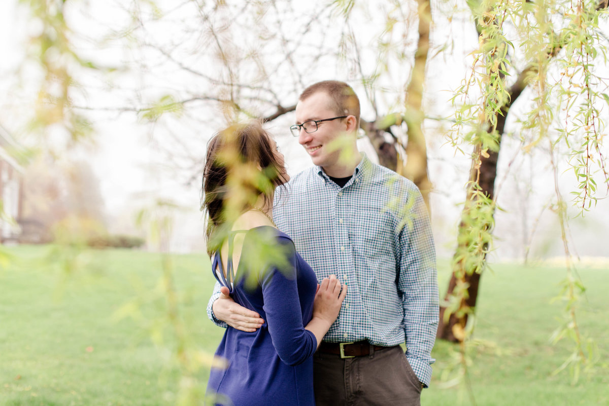 Pineland Farms engagement photos in the spring.