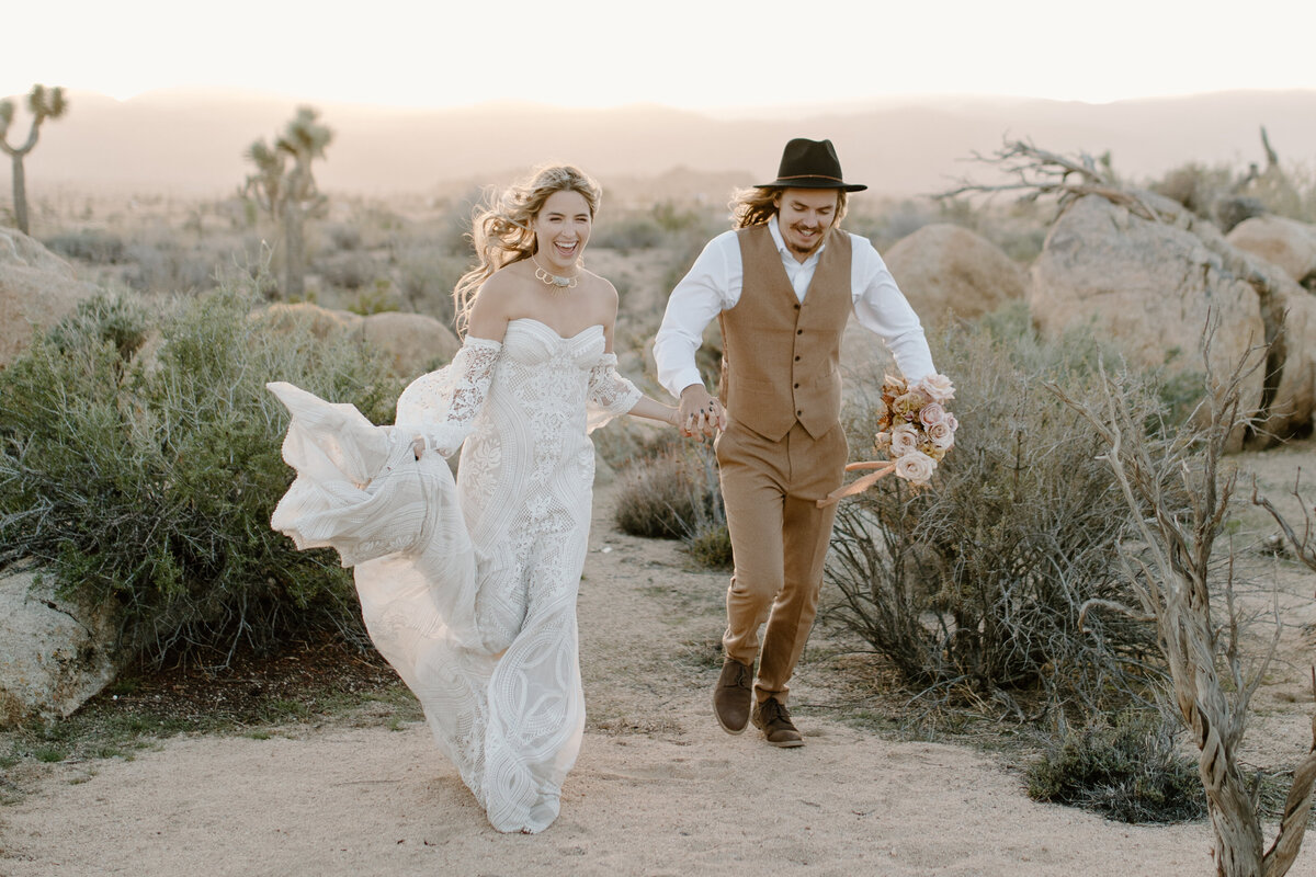 Bree & Brock - The Ruin Venue, Joshua Tree - Tess Laureen Photography @tesslaureen - 1636