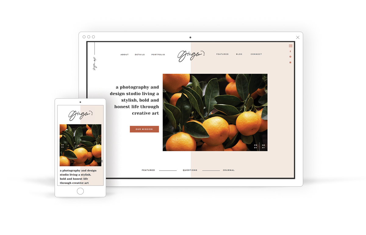 Modern & Bold Showit Website Template for Creatives