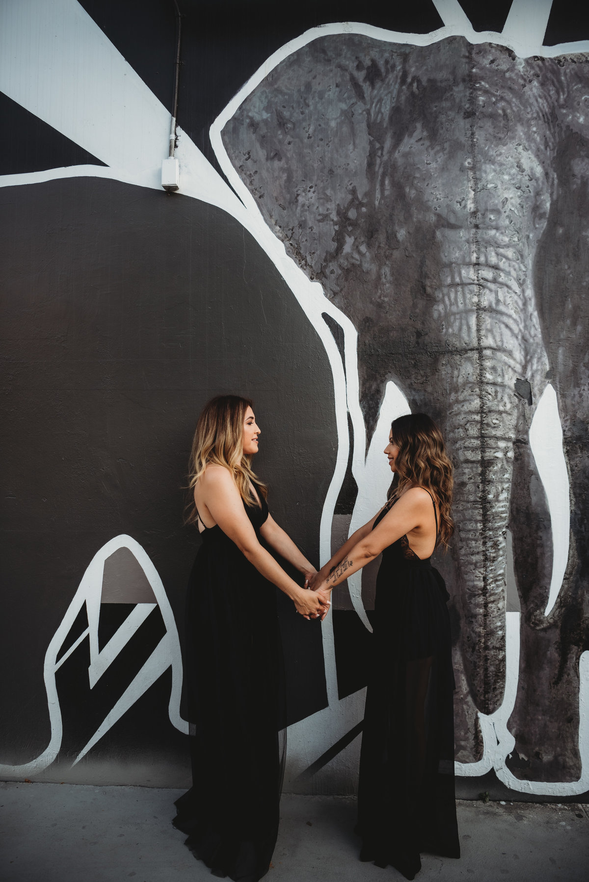 Sara and Vanessa-DTLA Engagement Session37