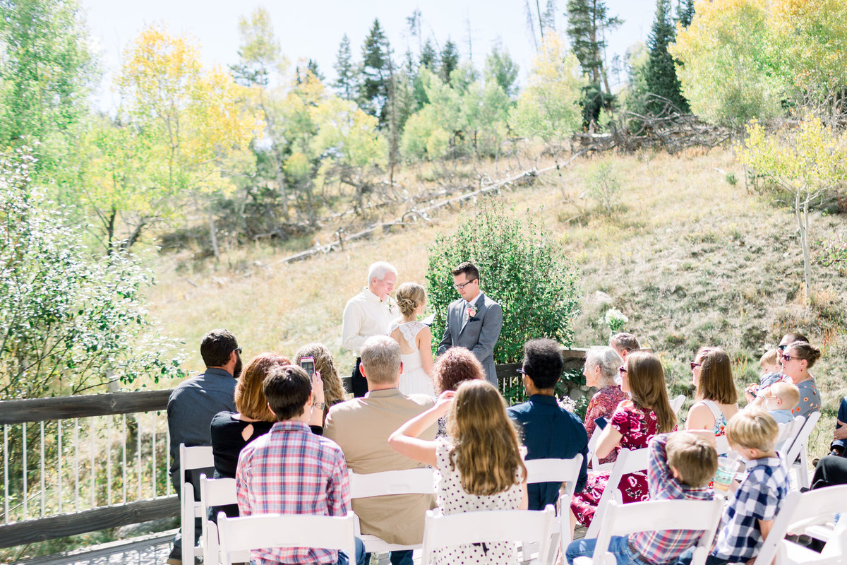 An intimate elopement nestled between the aspens in Lake Dillon, Colorado.