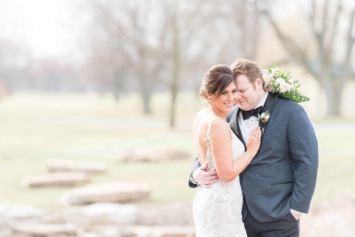 Chevy Chase Winter Wedding Portraits.