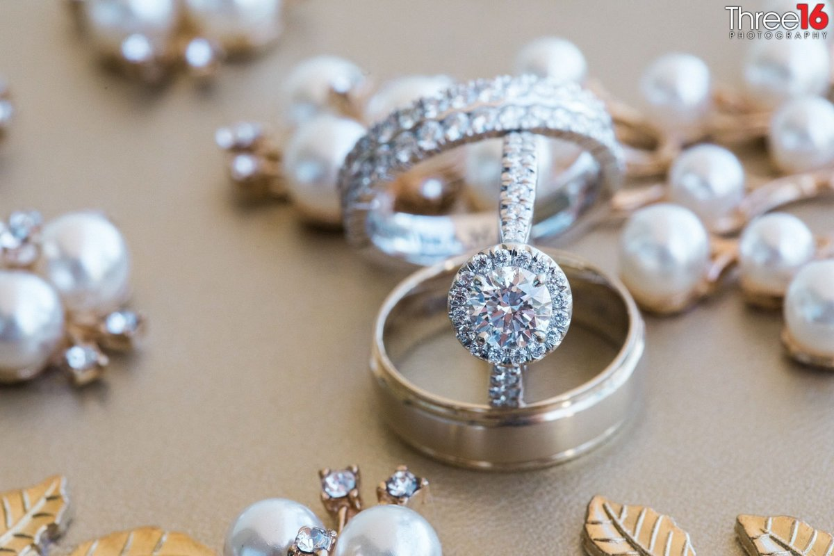 Bride and Grooms wedding rings and other accessories