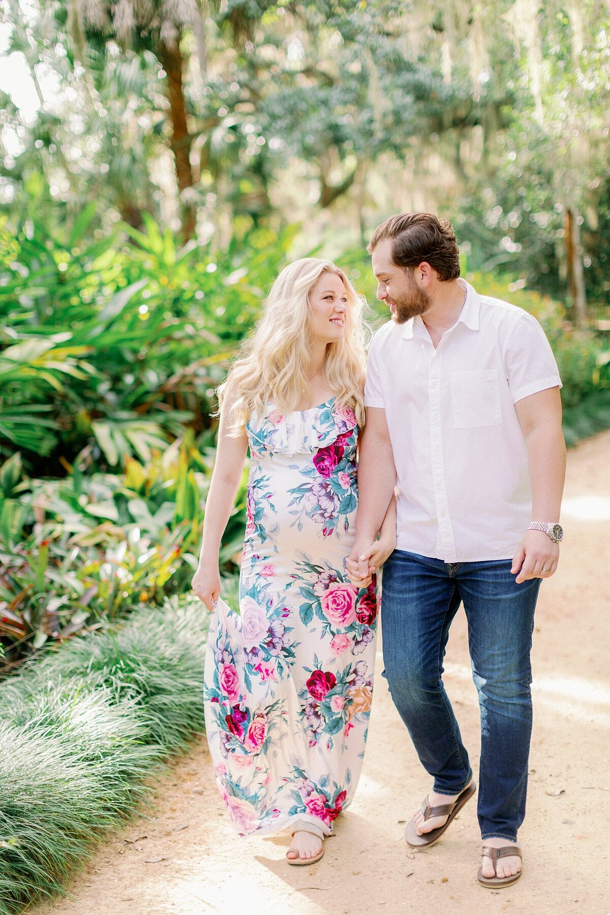 Ashley + Adrian Pamparau Washington Oaks State Park Maternity Session Photographer Casie Marie Photography-24