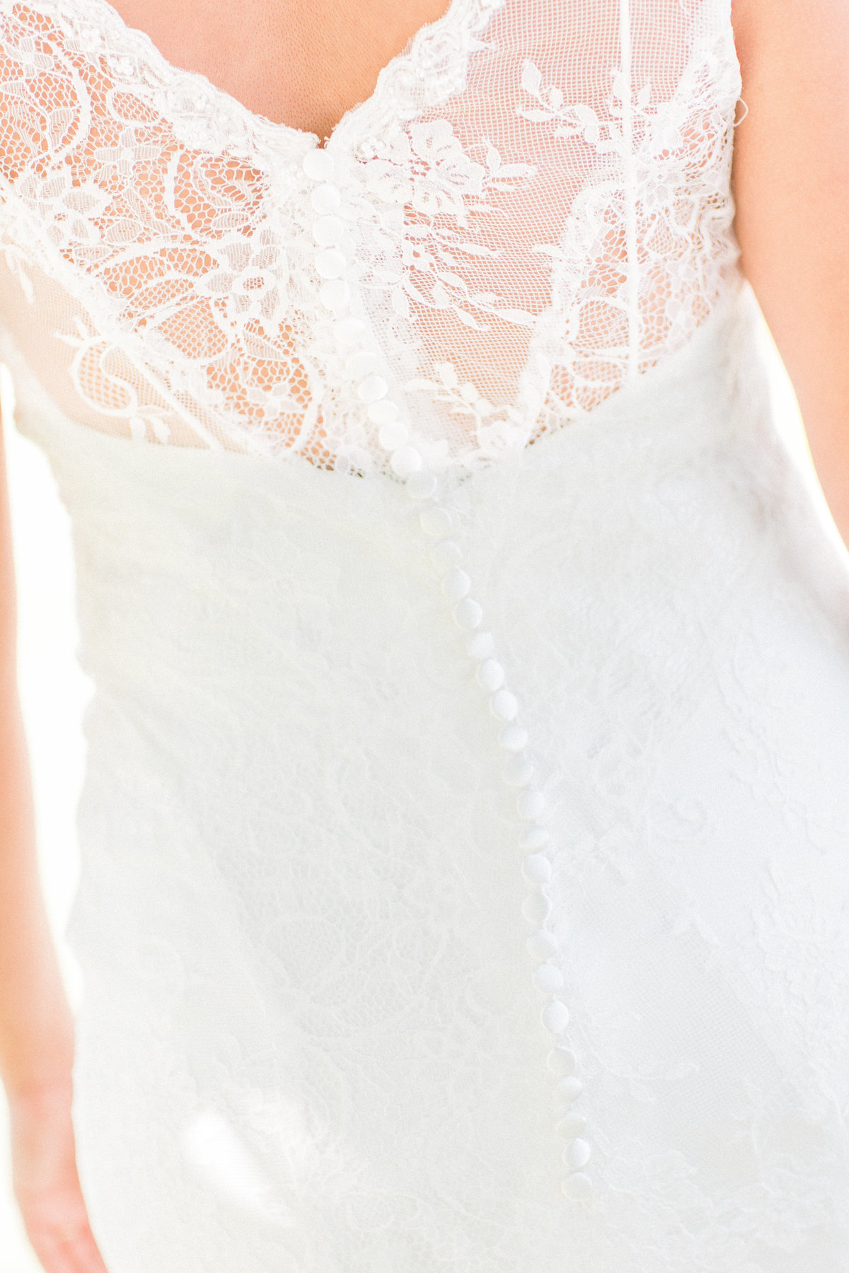 Vintage Lace Weddding Dress Detail