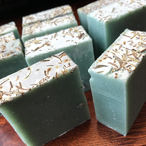 rosemary cold process soap