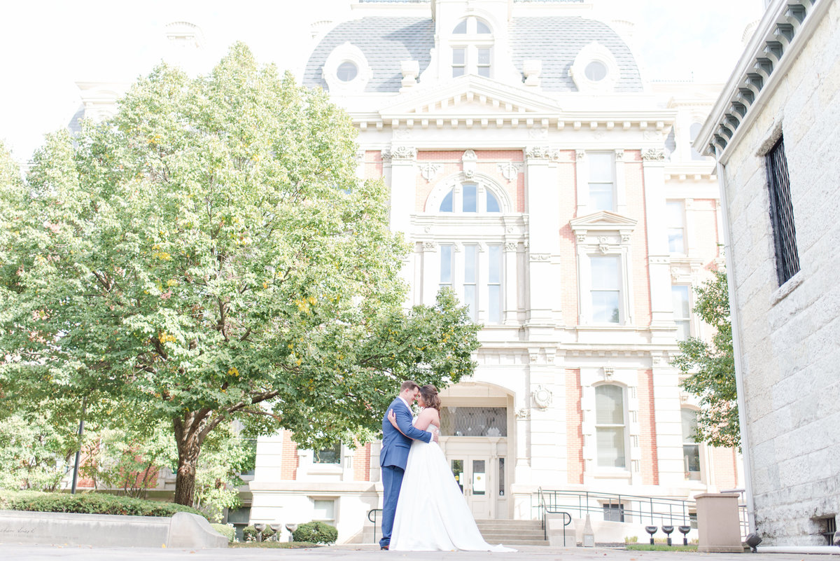 Newlywed Portraits Cait Potter Creative LLC Milltop Potters Bridge Noblesville Square Courthouse Wedding-32