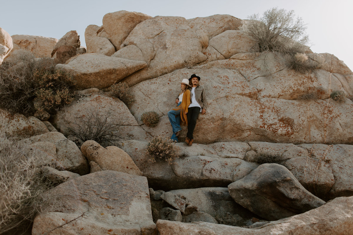 Joshua Tree National Park engagement session bySkyler and Vhan