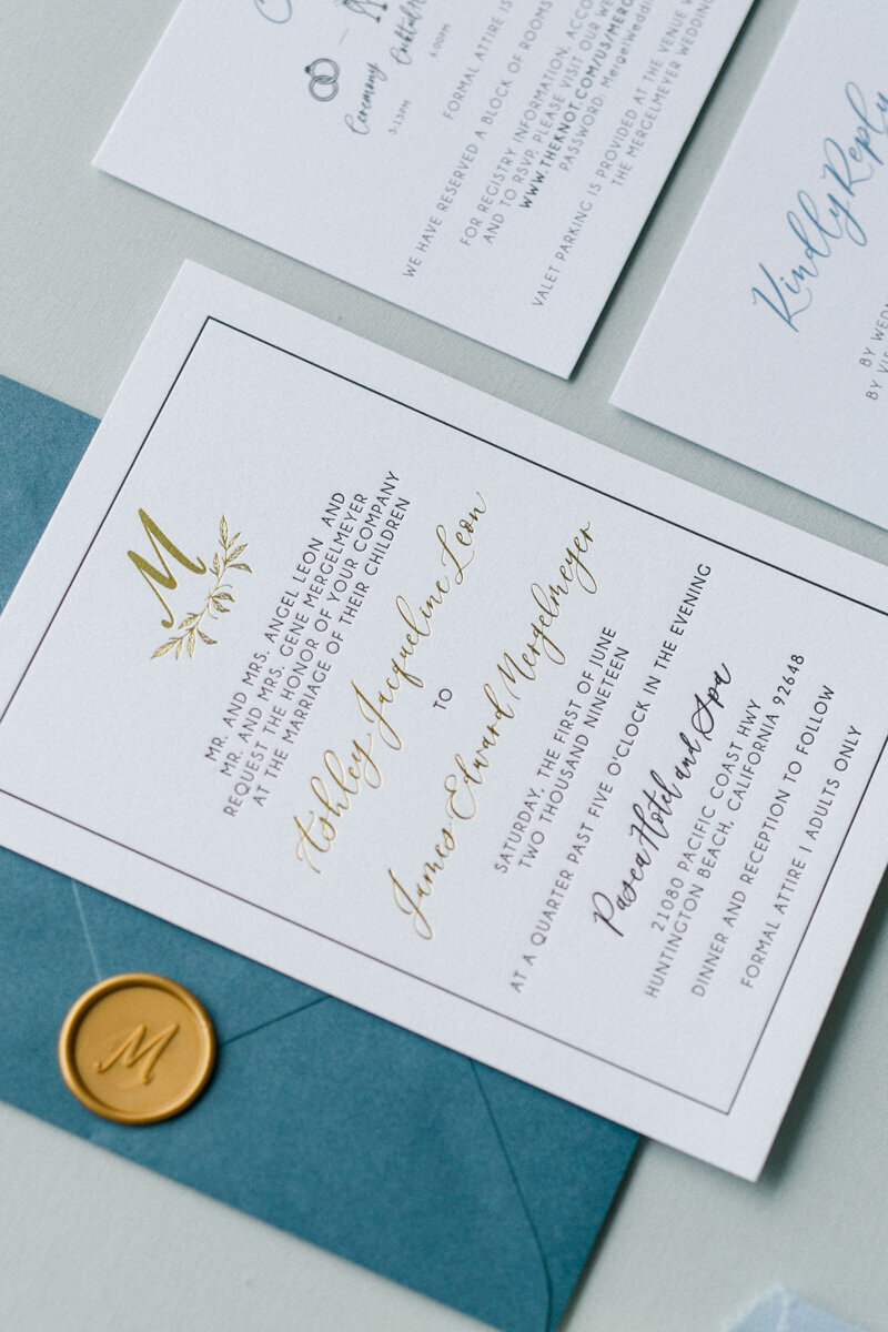 pirouettepaper.com | Wedding Stationery, Signage and Invitations | Pirouette Paper Company | Pasea Huntington Beach Wedding |  Kaysha Weiner Photography_ (3)