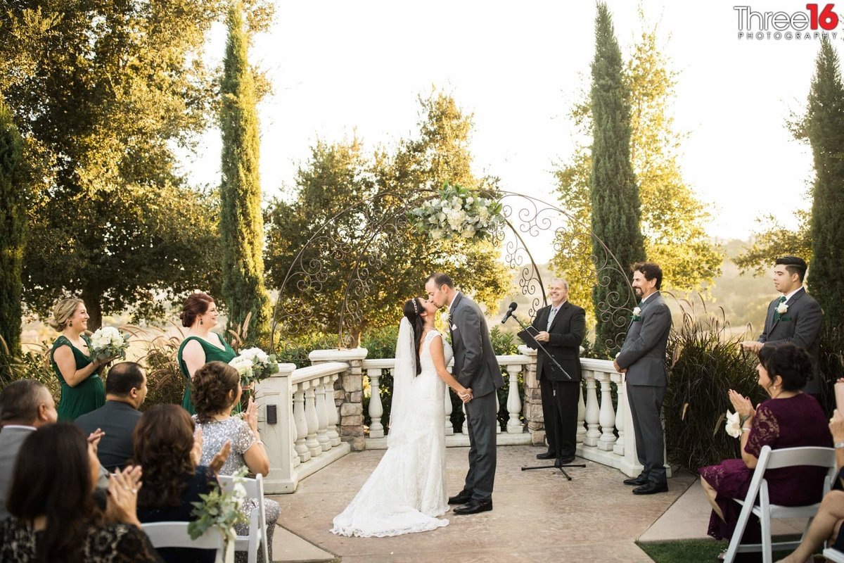Chino Hills Wedding Kiss