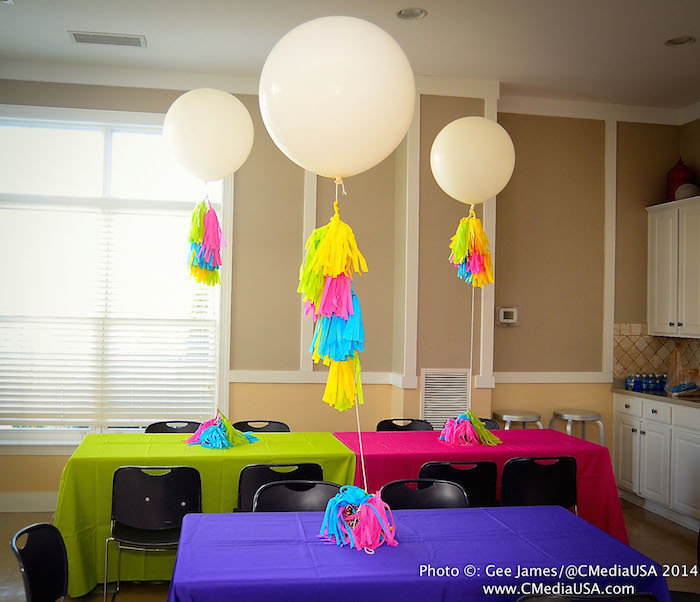 Sparkling Events Designs - Neon Dance Birthday Party - The Flair Factory