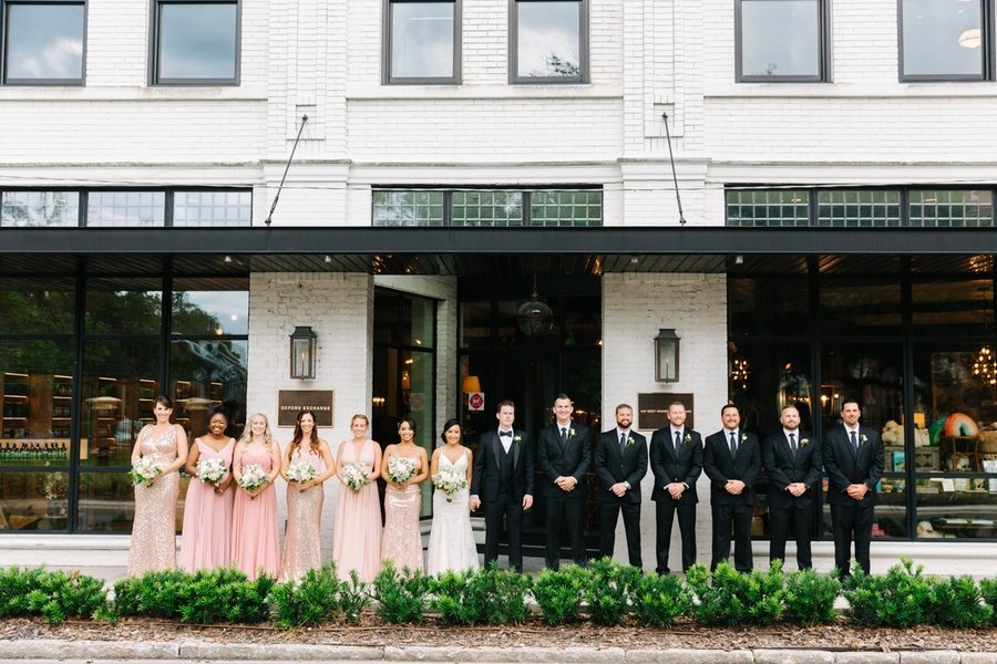 Tampa Oxford Exchange with Bridal party photo