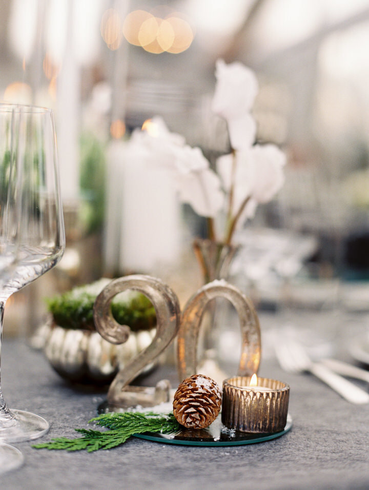 winter wedding details