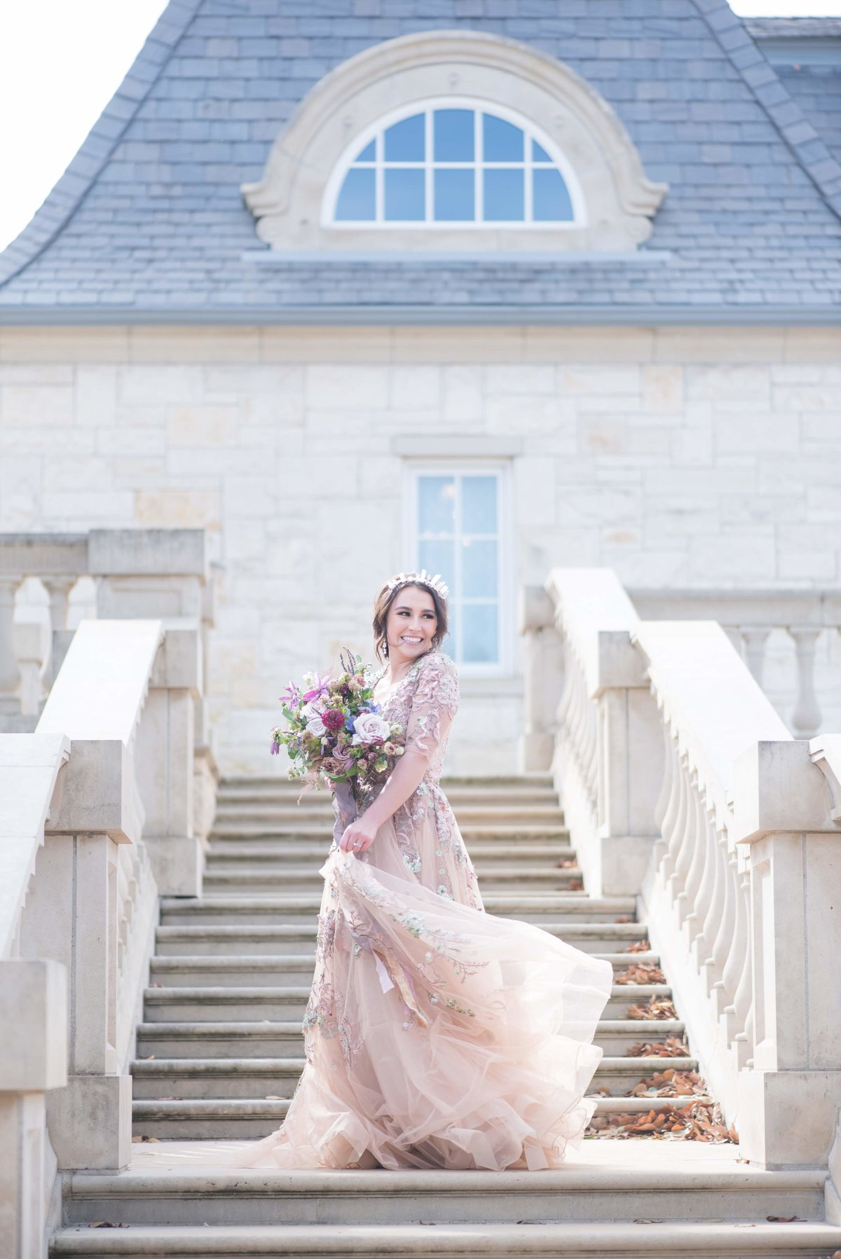 Purple Styled Shoot Bride Steps Olana TX_001