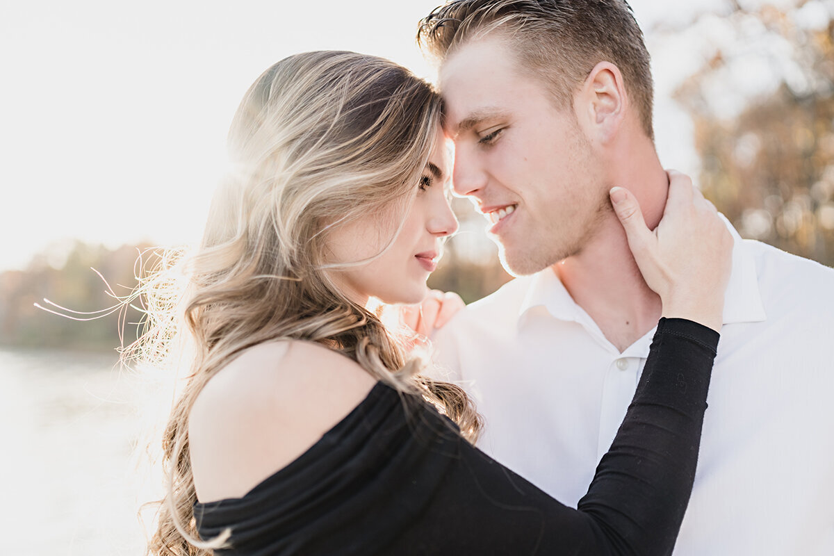 fall sunset independance oaks engagement photos in clarkston michigan provided by kari dawson, top rated metro detroit wedding photographer