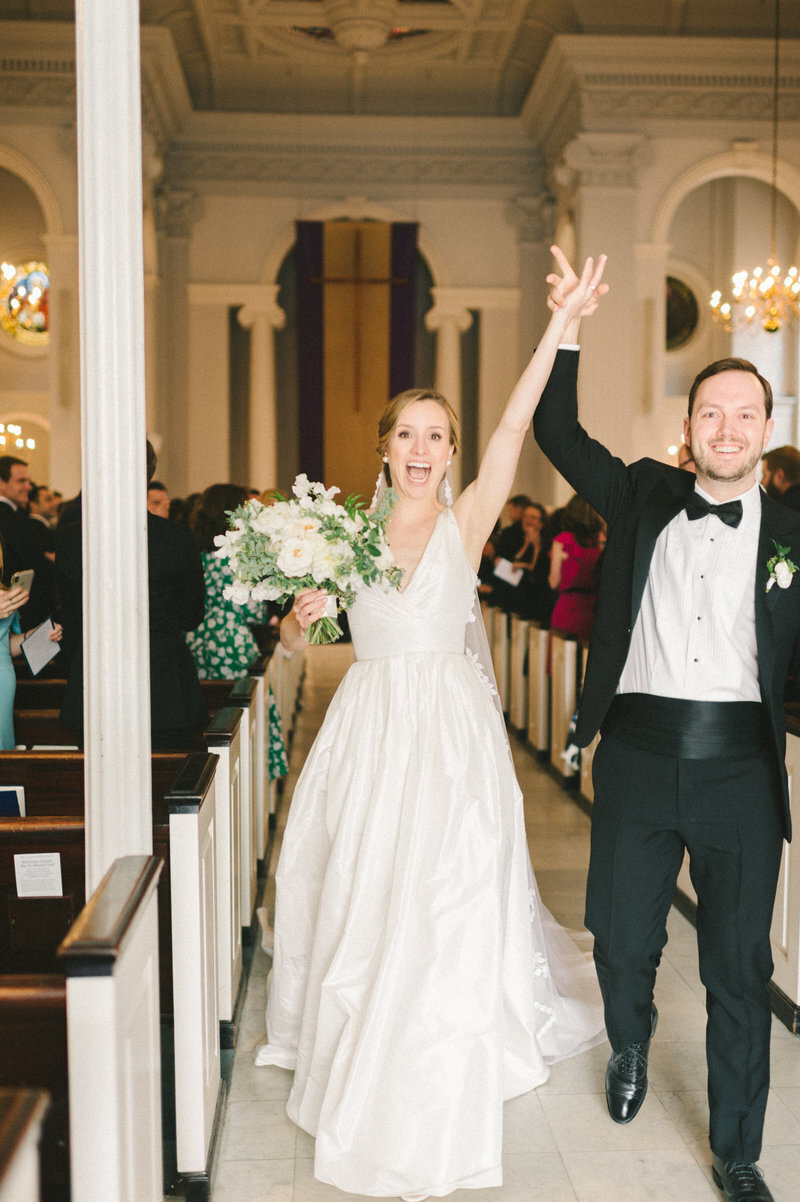 just-married-celebration-holy-trinity-catholic-church-dc