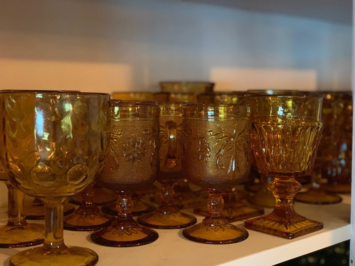 yellow glassware