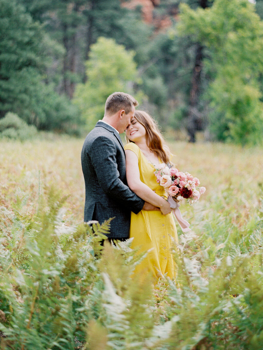 Aubrey & Joey Sedona West Fork Trail Fall Fine Art Engagement Session Ball Photo Co-13