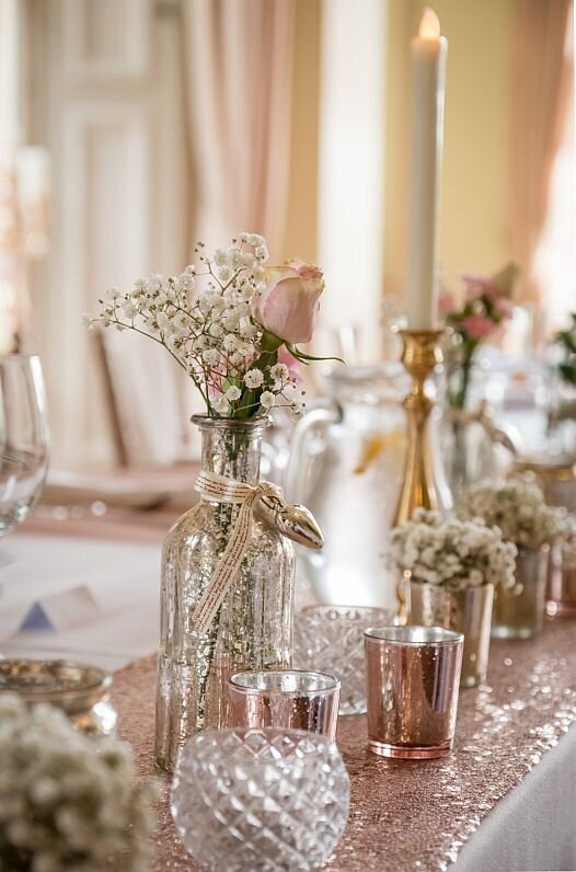 Pink and ivory wedding Prestwold (12)