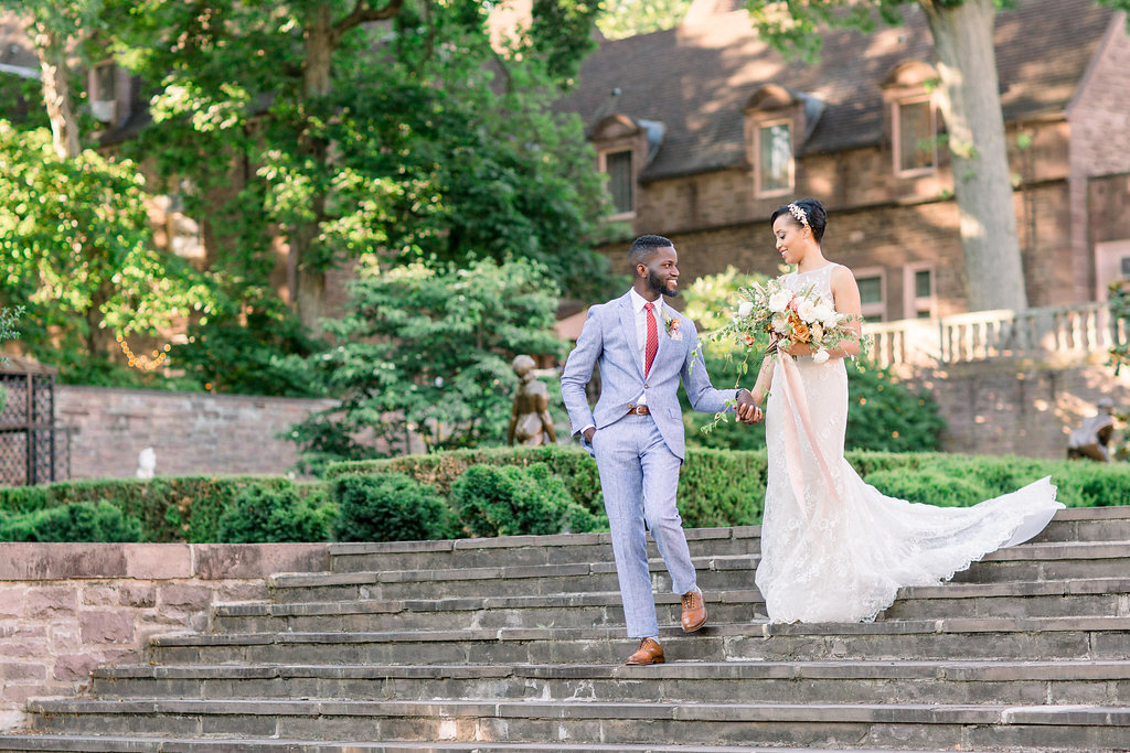 Summer Wedding Tyler Gardens Philadelphia bride and groom