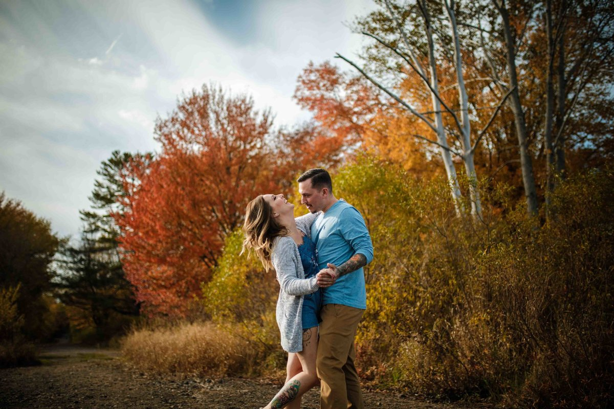25 fall foliage engagement photos for pavilion on crystal lake wedding