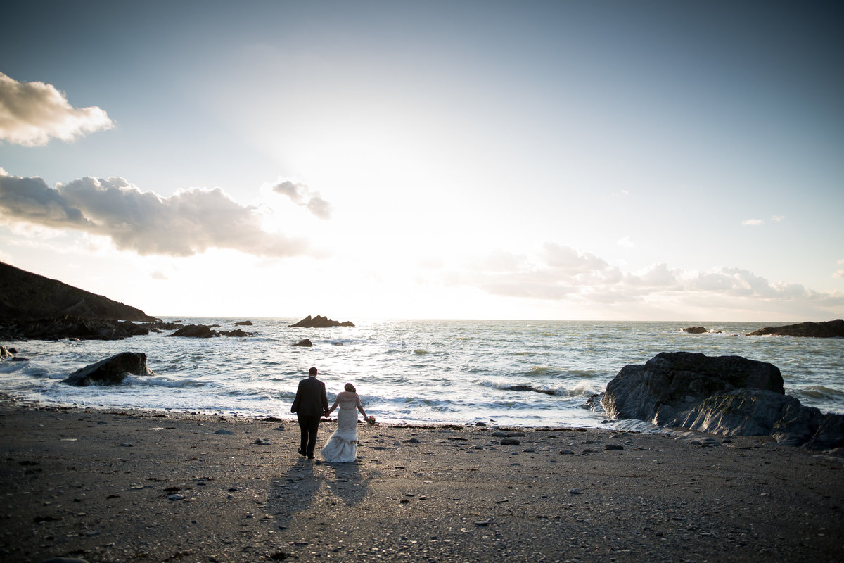 april wedding at tunnels beaches in devon