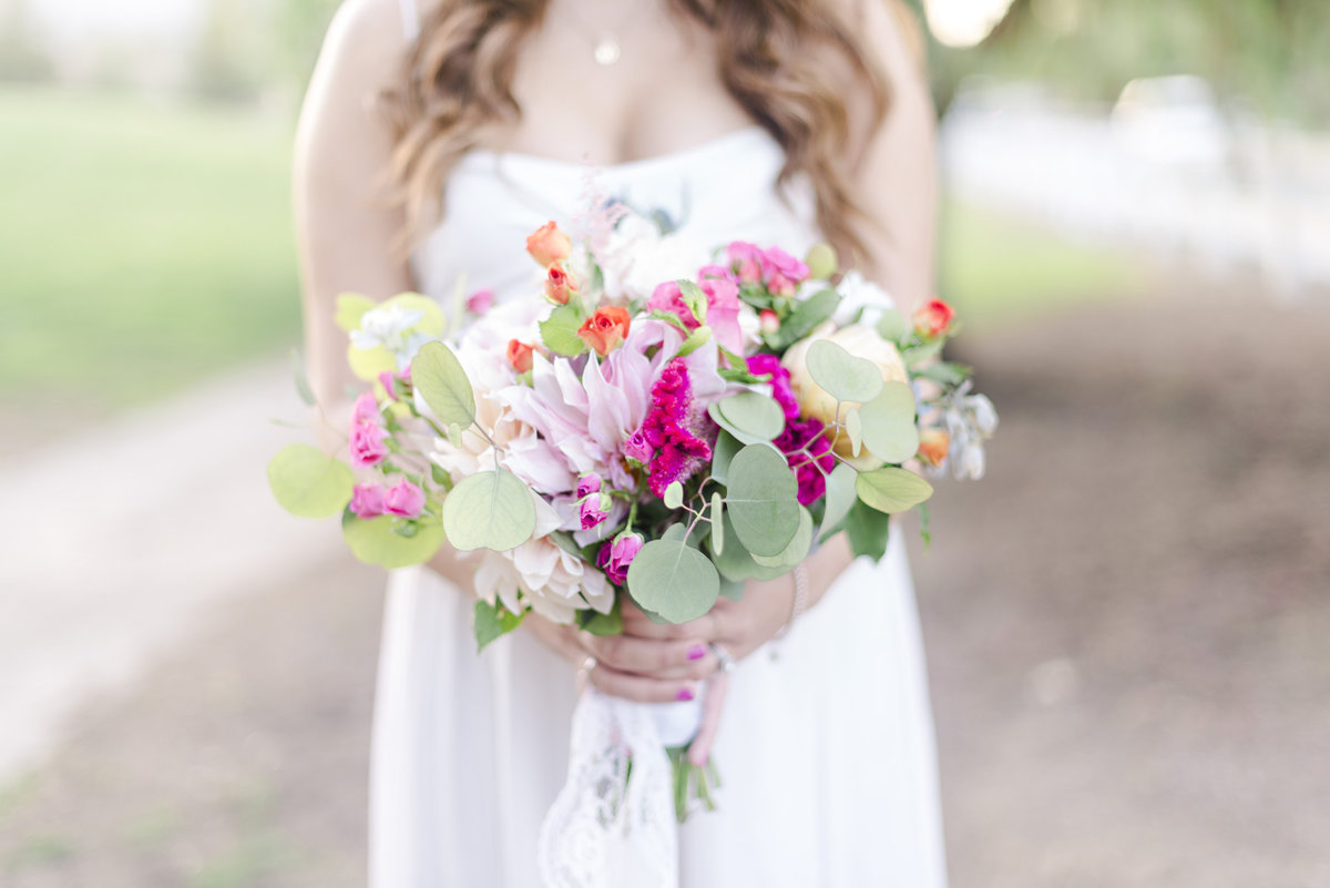 Southern California Wedding Photographer. Pink wildflower bouquet