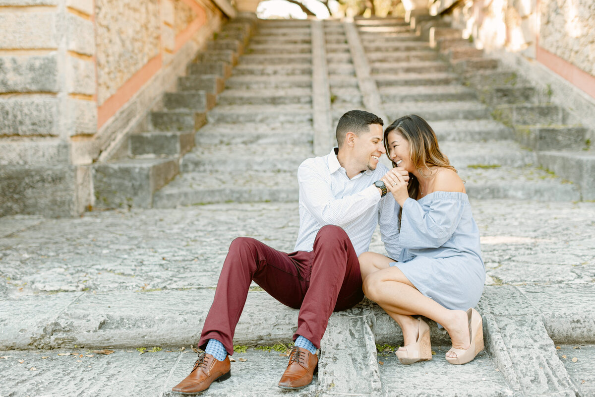 Vizcaya Museum Engagement Photography Session 24