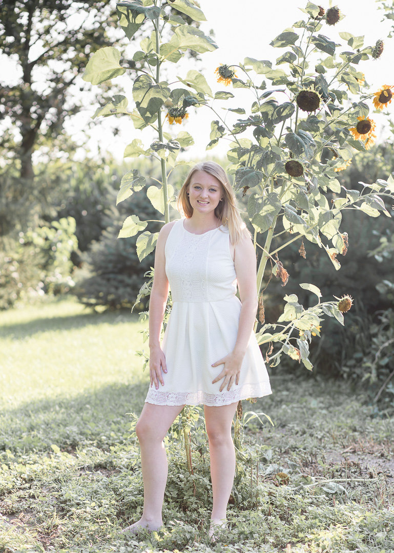 Senior Session in the sunflowers