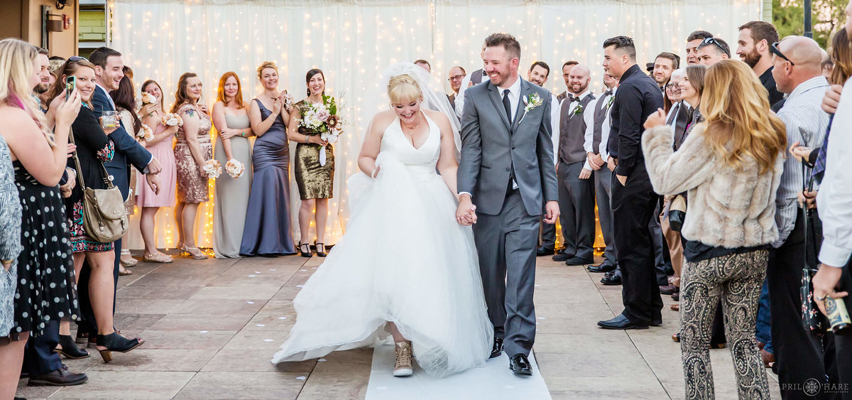 Rooftop Wedding Ceremony Denver Colorado Photography