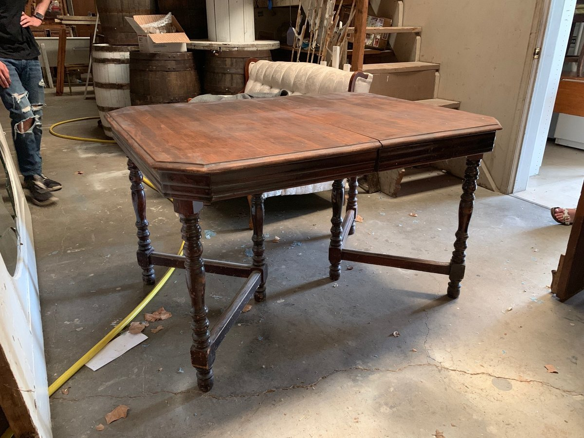 antique stained table