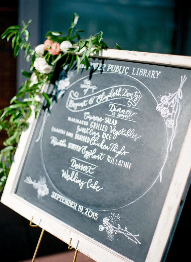 corner wedding sign floral