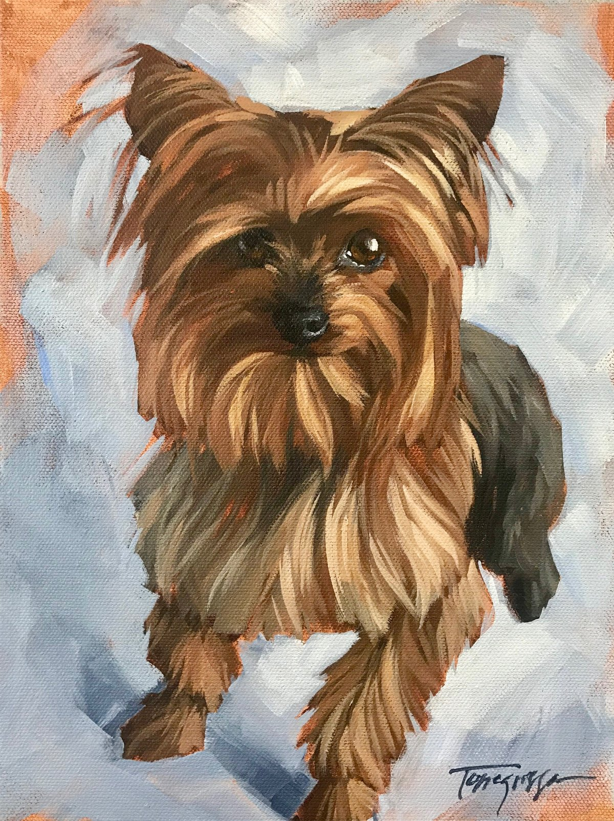 Torregrossa Fine Art Custom Pet Portrait by Stephanie Torregrossa Gaffney