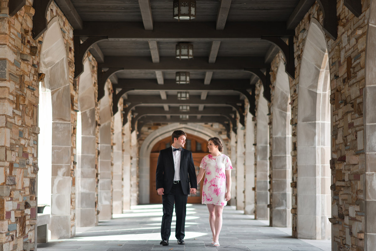 rhodes college engagement shoot