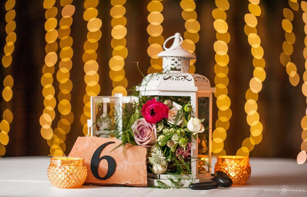 Pretty Floral Lantern Wedding Decor Inspiration in Colorado