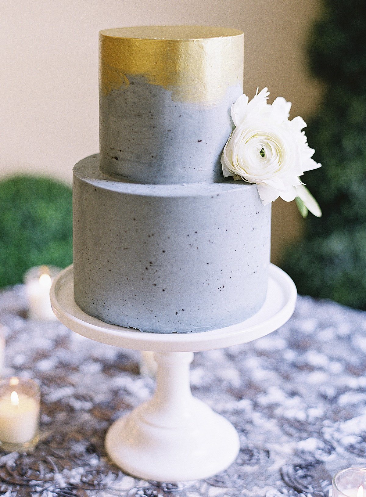Posh Peony Mission Inn Lush Gray and Gold Greenery Wedding Flowers_0024