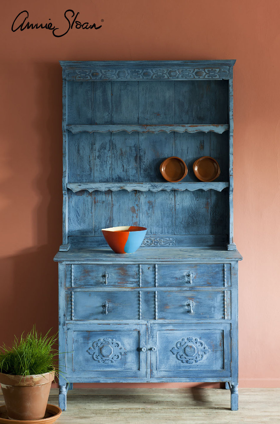 Greek-Blue-Kitchen-Dresser-Distressed-Primer-Red-Napoleonic-Blue-Scandinavian-Pink-with-Scandinavian-Pink-image-1