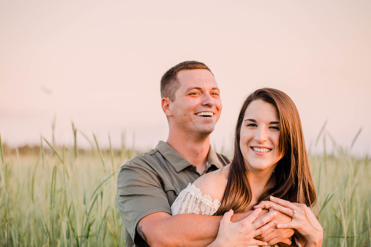Engagement session at Covington Farm