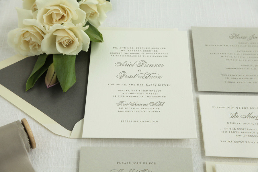 Classic Letterpress Beverly Hills Invitation