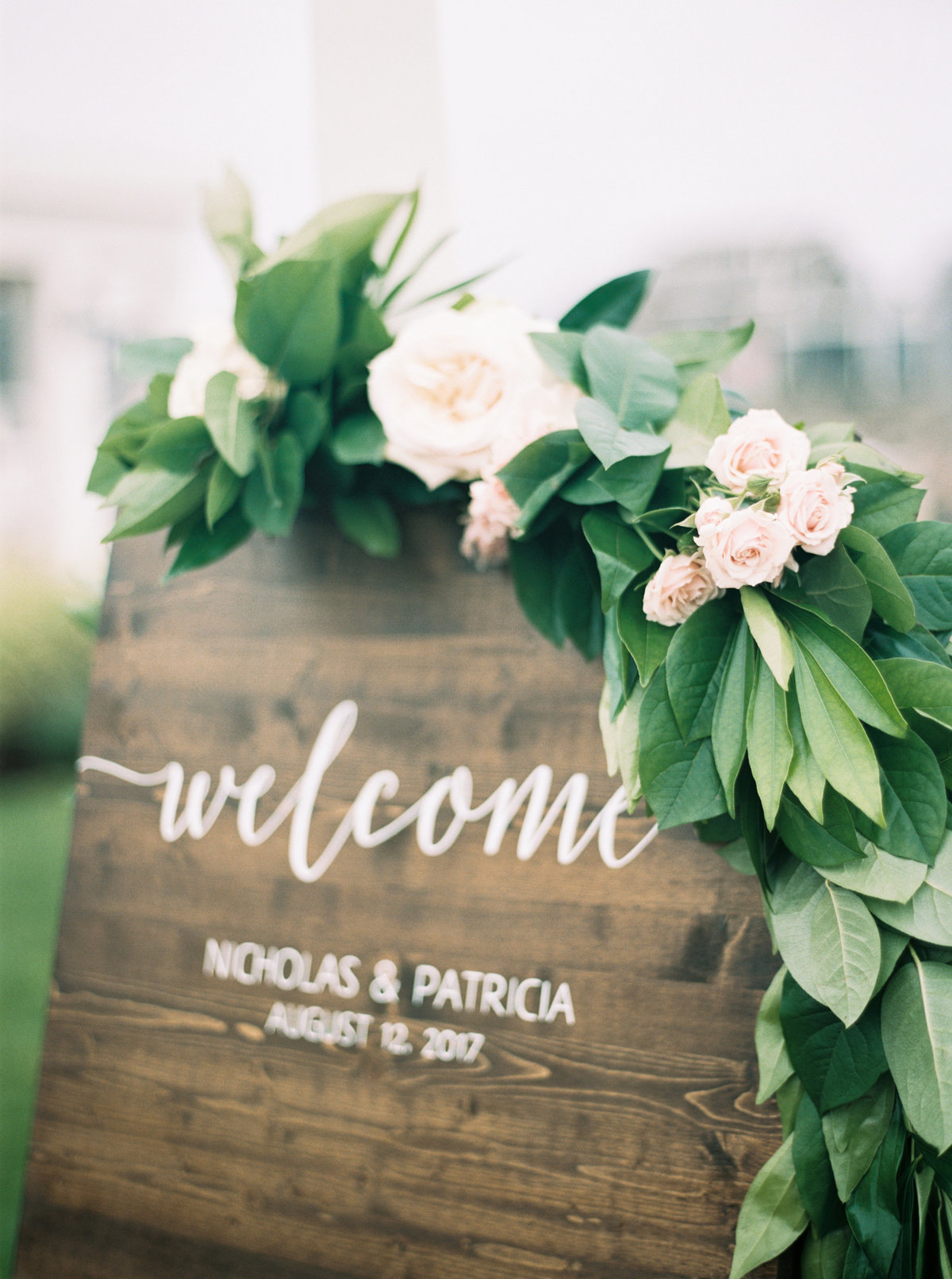 Welcome sign wedding on cape cod