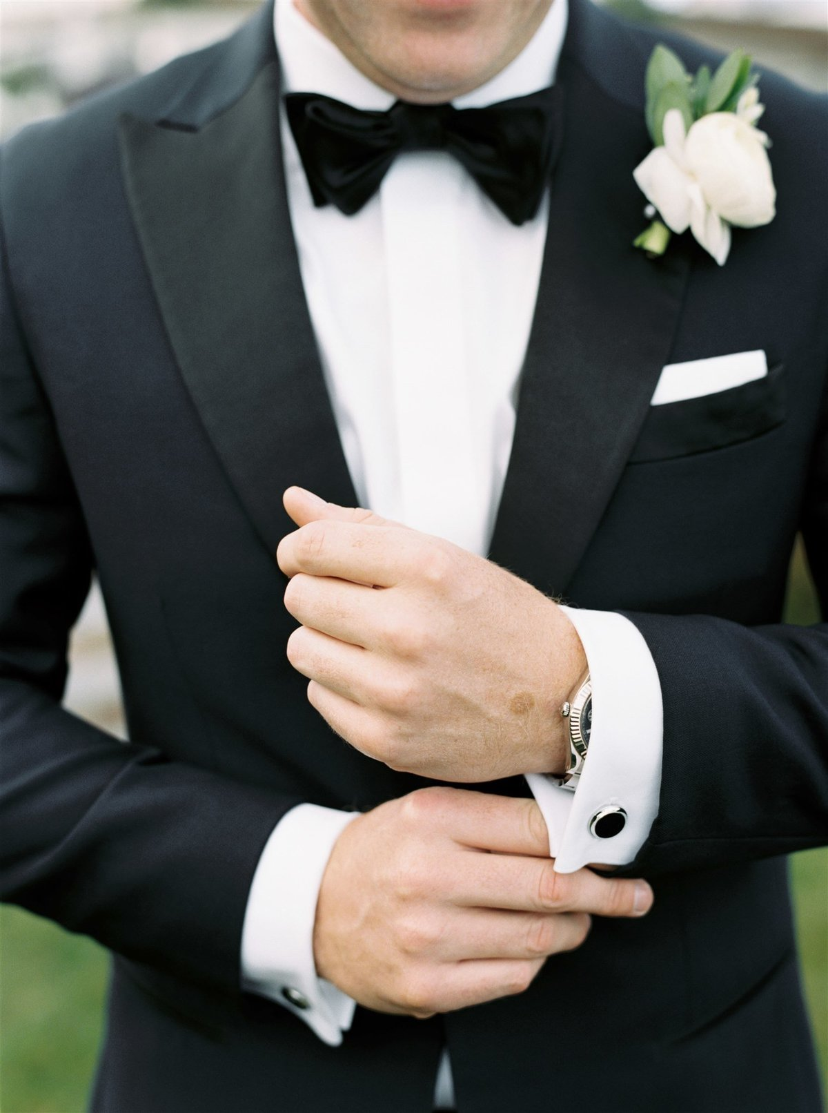 Black tie custom tuxedo for a Cape Cod Wedding by luxury Cape Cod wedding planner and designer Always Yours Events