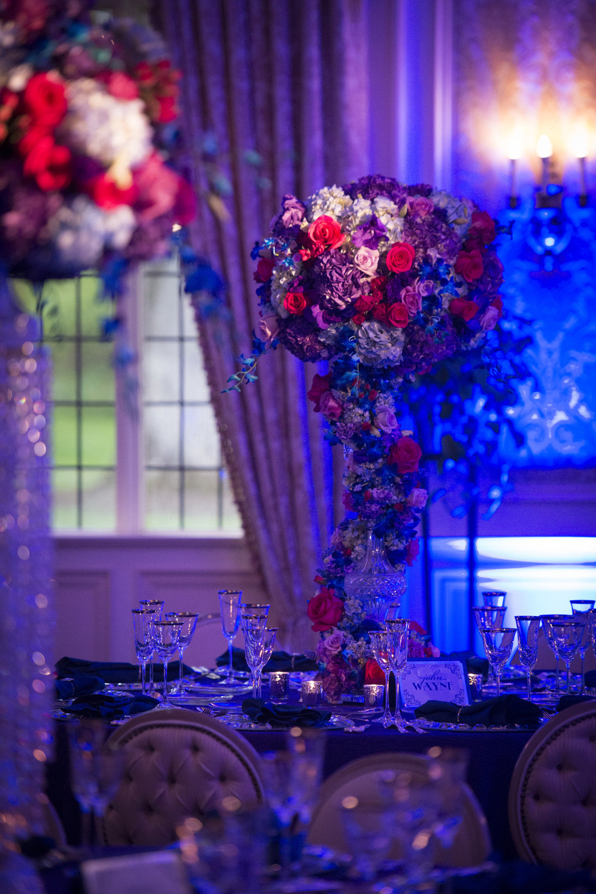 Pleasantdale Chateau Luxury NJ Wedding Purple Blue Pink Silver 12