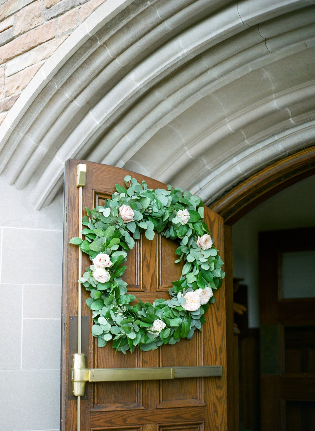 floral wreath wedding