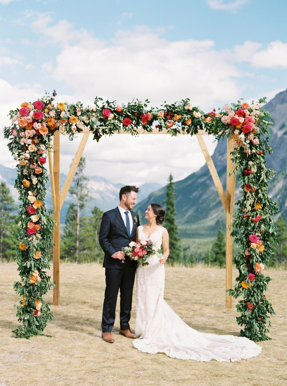Banff wedding arch floral inspiration