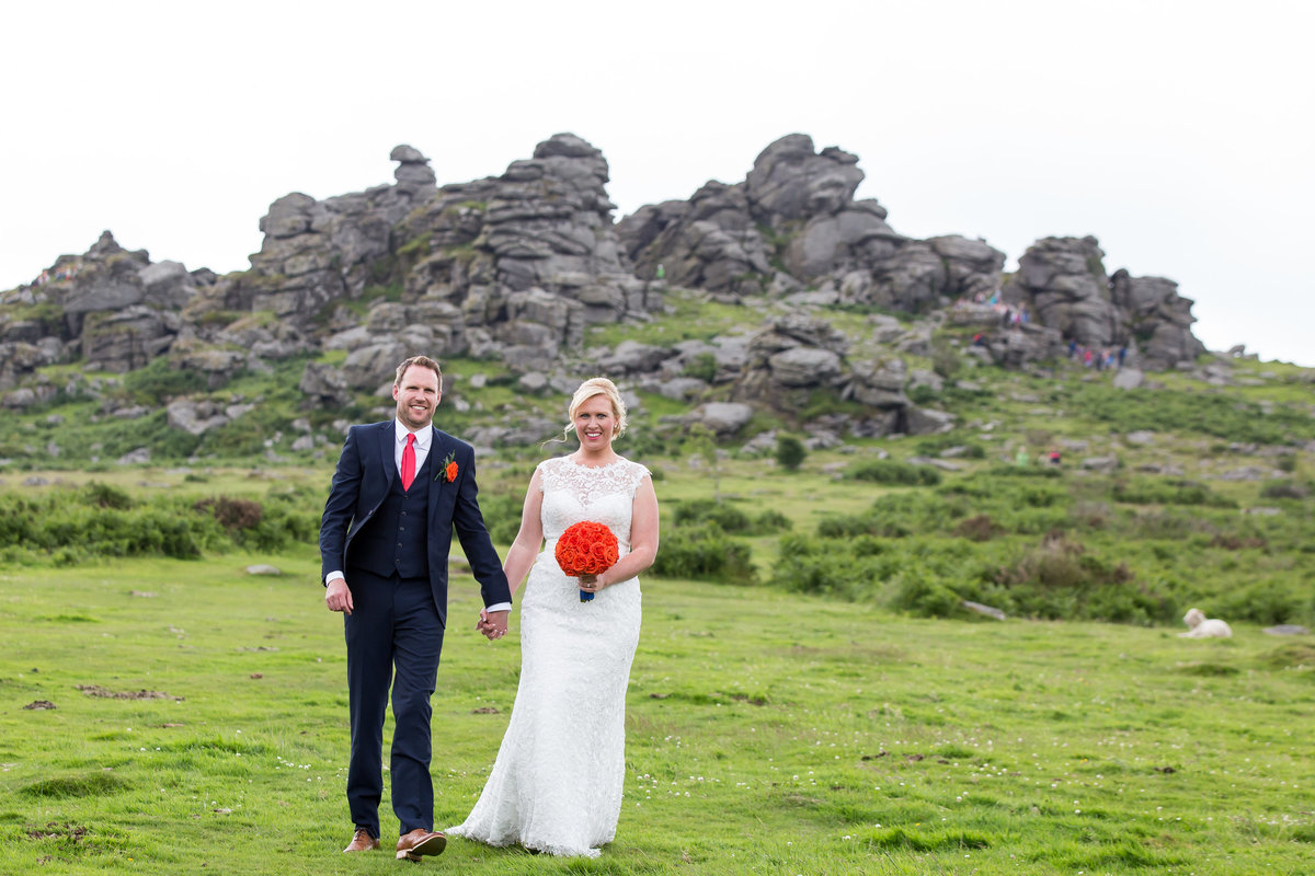 wedding photographer on dartmoor in devon hound tor
